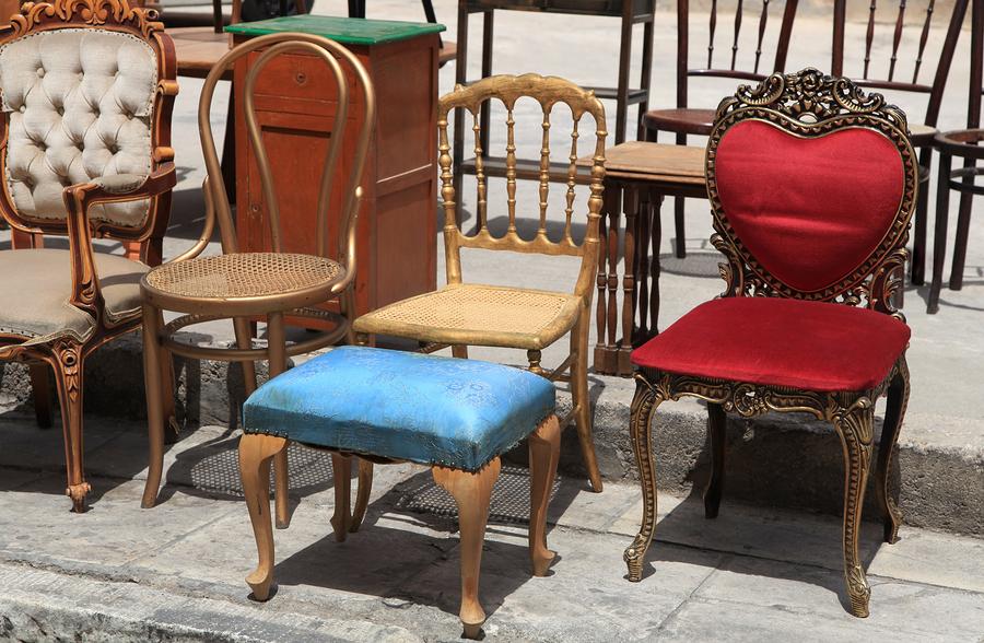 antique furniture repair in progress