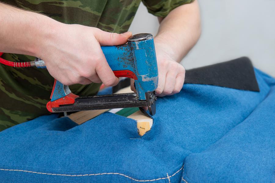residential upholstery service in progress
